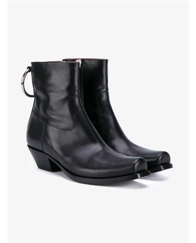 Shopping · VETEMENTS Cowboy Leather Ankle Boots.