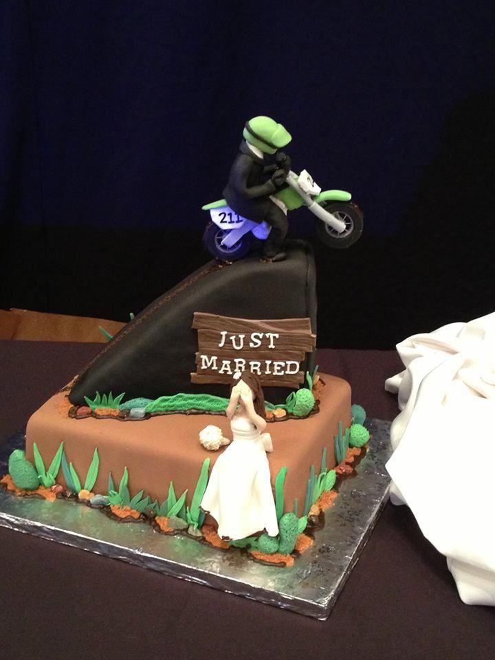 Dirt bike grooms cake Sugarnomics Cake Studio Guam Wedding Cakes