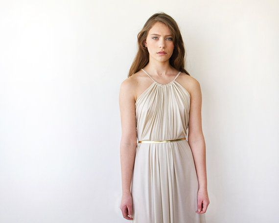 A Simple, Elegant Ivory Dress, Suitable For A No-frills