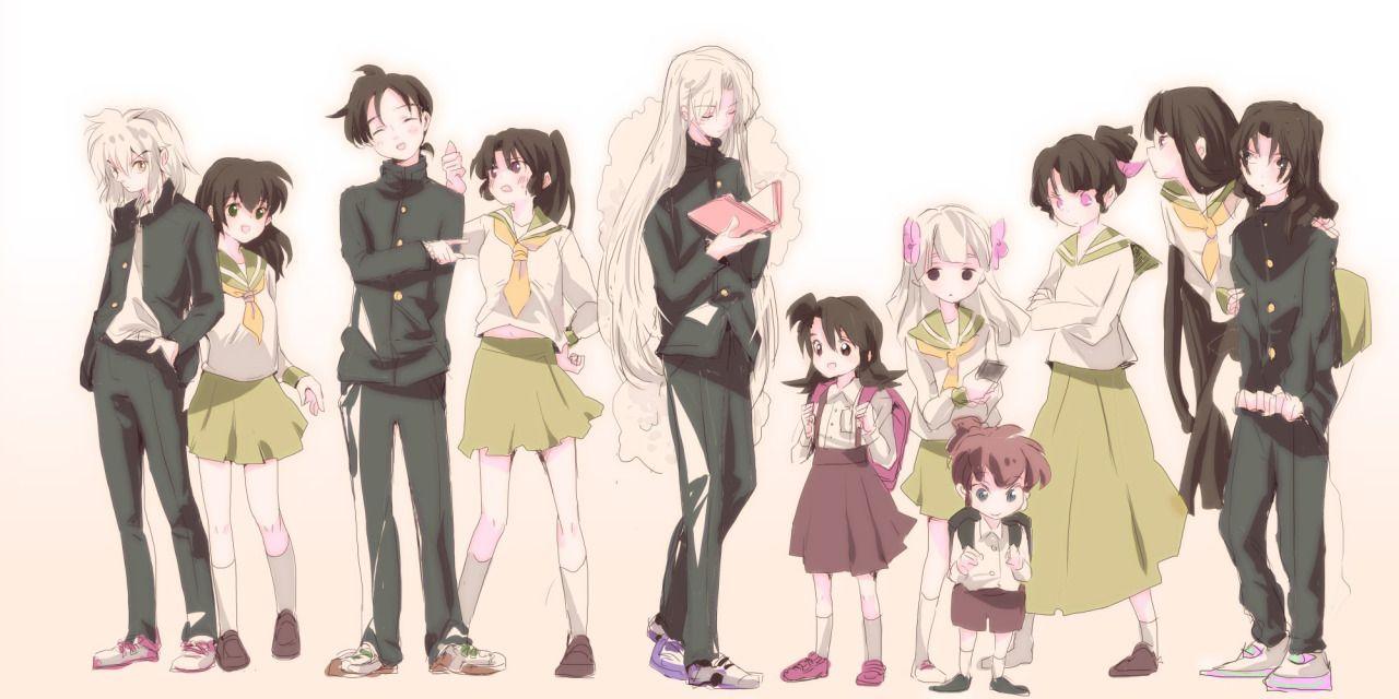 Modern Inuyasha Miroku Sango Sesshomaru Rin Shippo Kanna Kagura Kikyo And Naraku With The Always Kagome