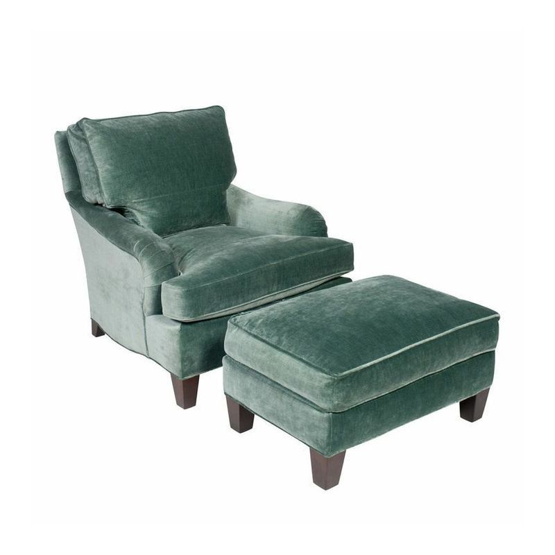 This Chair Beckons A Book To Be Read. Teal Velvet English Club Chair And  Ottoman   $3,020 Est. Retail   $1,250 On Chairish.com