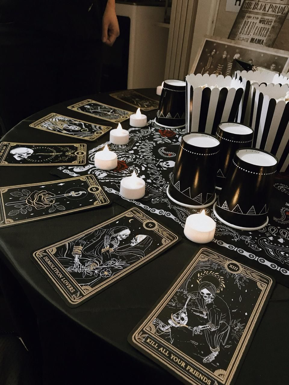 My Chemical Romance Theme Party Tarot In 2020 Diy Party Themes Birthday Halloween Party My Chemical Romance