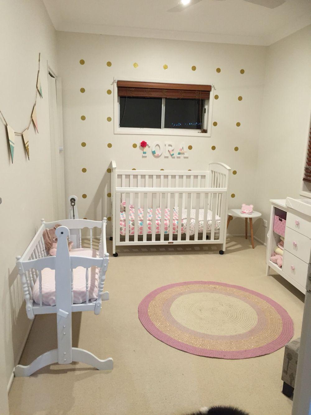 Pastel and floral nursery.