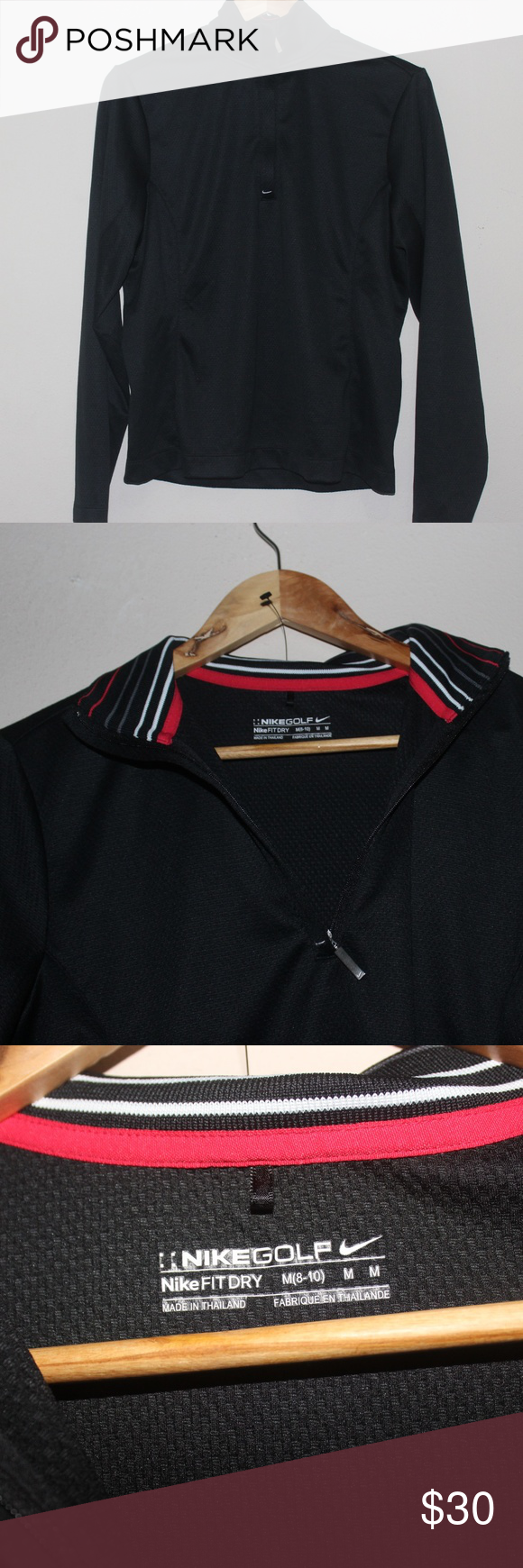 Nike Golf Quarter Zip Up Pullover +great condition +perfect if you are into golfing Nike Sweaters #myposhpicks