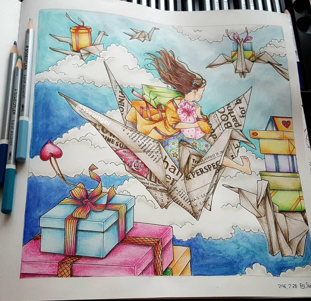 South korea coloring book -  Sseungei Instagram 503 Coloring Booksthe Skyprismacolorsouth Koreacolourhobbiespresentscreativityrainbow