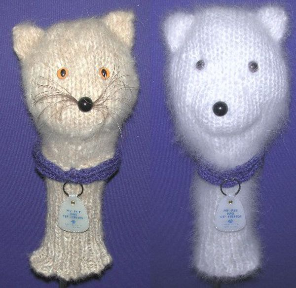 Knitted Cat Hair Golf Club Covers