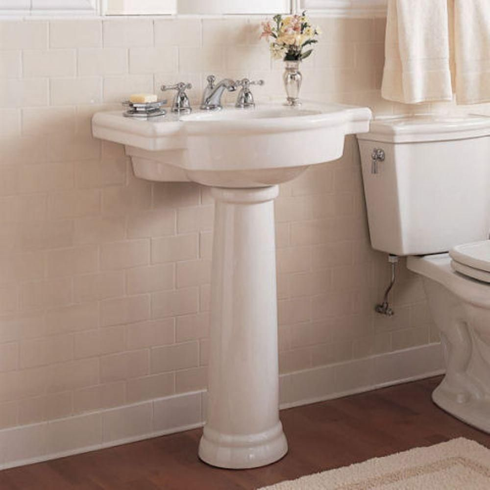 Bathroom sink leg in white american standard ravenna bathroom sinks - American Standard Retrospect Pedestal Combo Bathroom Sink In White