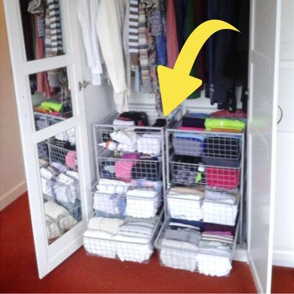 Dorm Room Closet Organization Ideas - 35 Space-Saving Dorm Closet Organization Tricks images