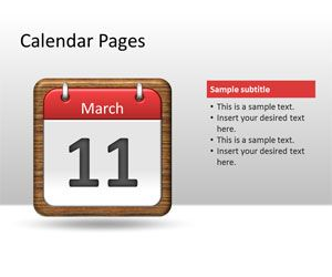 Calendar Pages PowerPoint Template Is A Simple Calendar Template For  PowerPoint That Contains A Calendar Slide