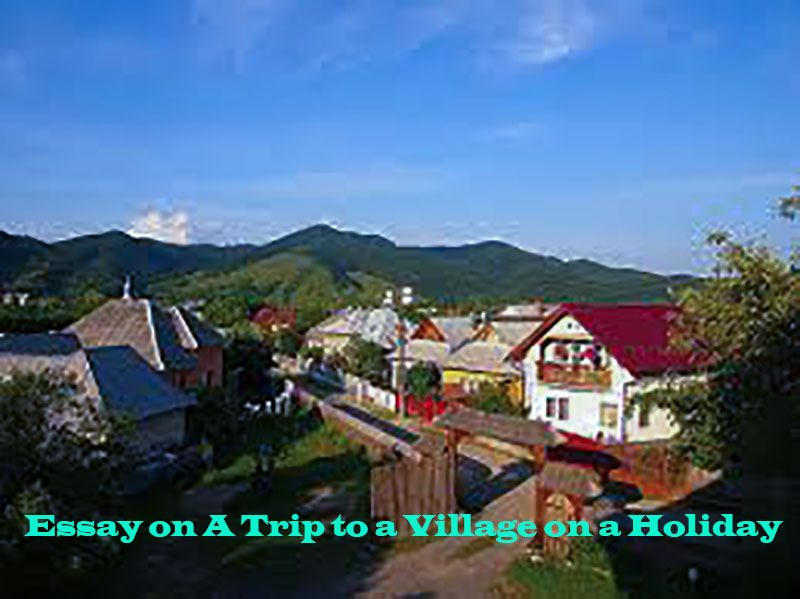 Essay On A Trip To A Village On A Holiday  Education  Education Essay On A Trip To A Village On A Holiday Winter Holiday