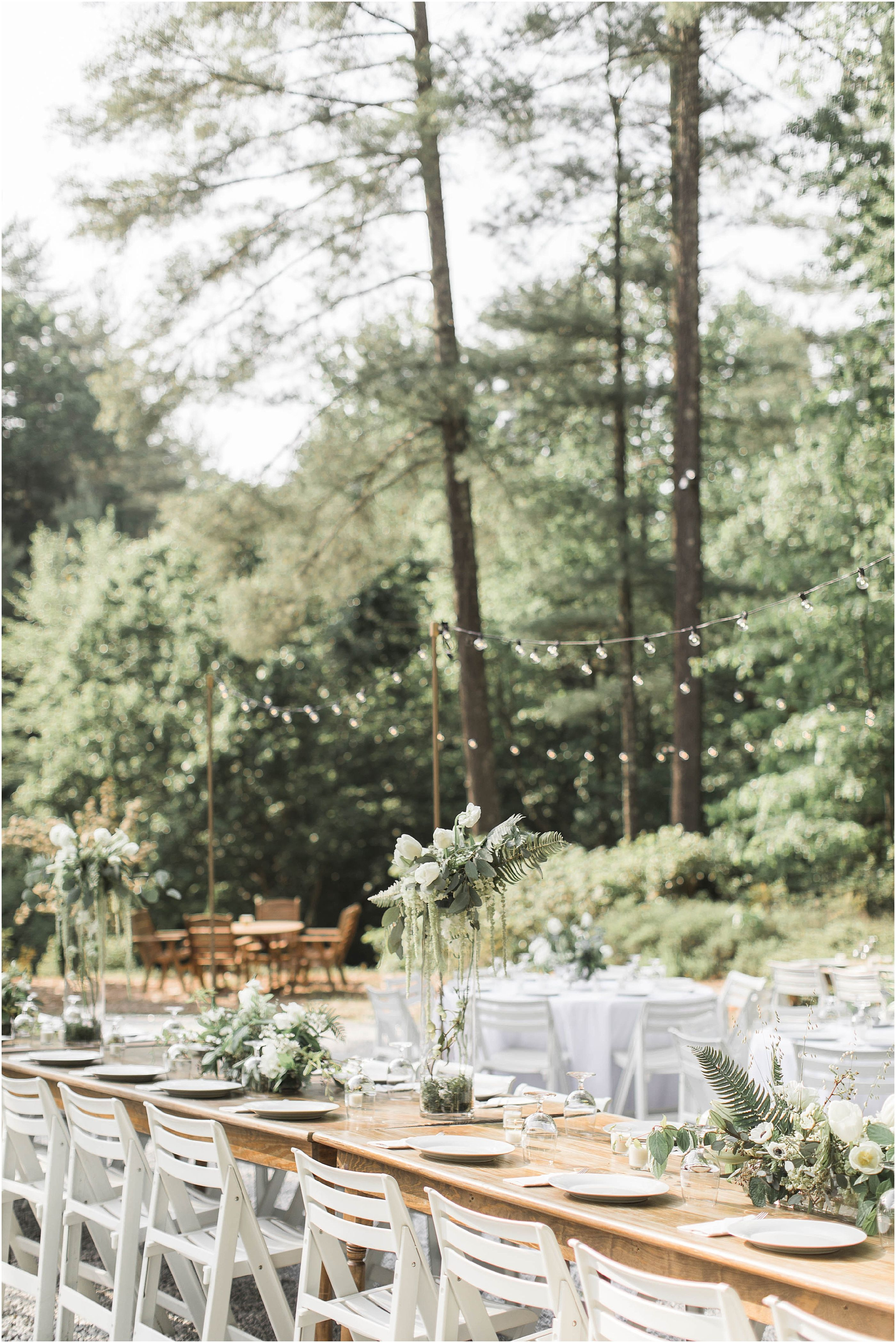 North Wedding with Forest Inspired Details at