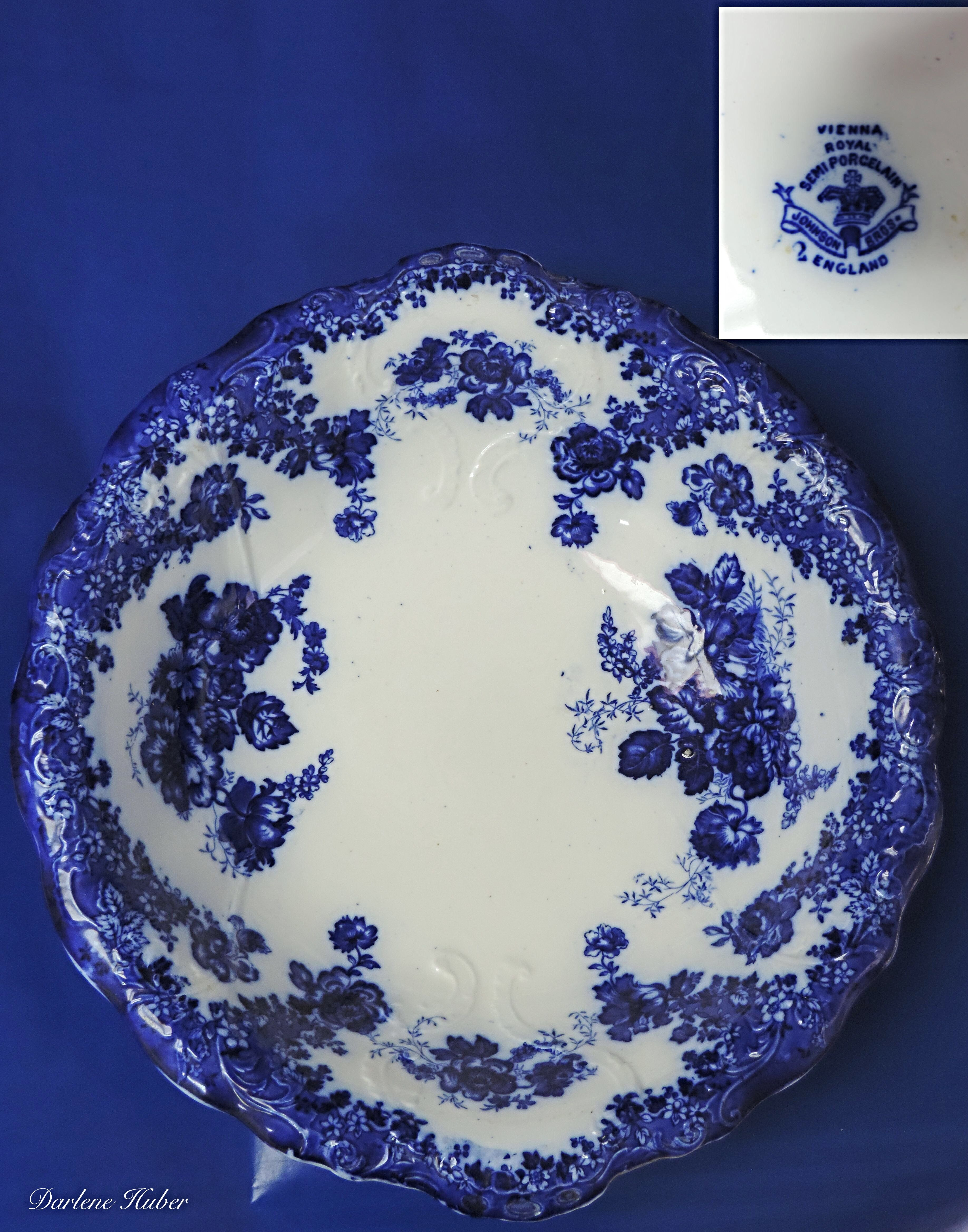 Vienna Royal Semi Porcelain Johnson Bros ENGLAND Antiqu