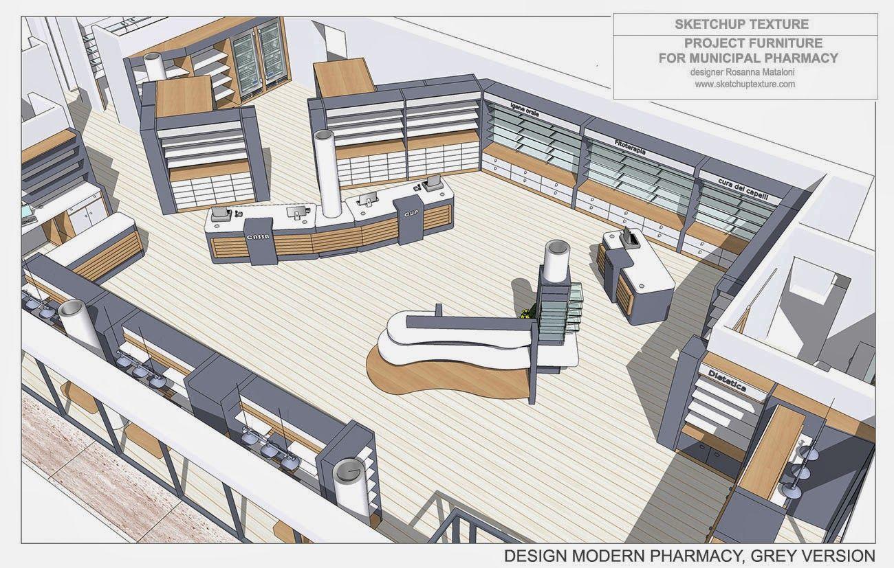pharmacy project furniture layout 3d rosanna mataloni designer 22 rh pinterest com