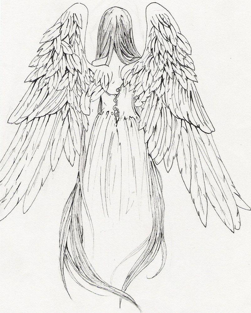 4032-angel-drawing-tattoo-angel-girl-tattoo-design.jpg (801×997 ...