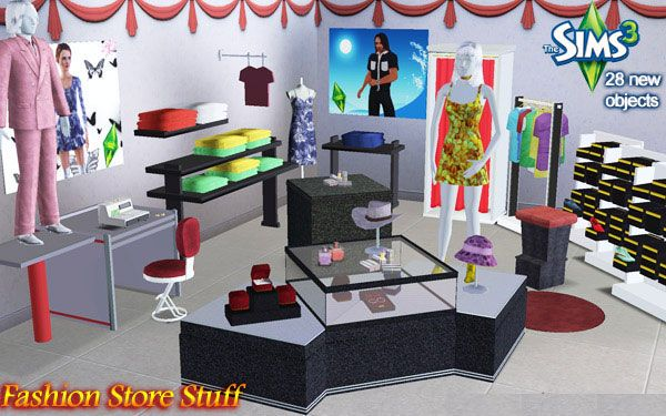 Mod The Sims The Sims 3 Fashion Store Stuff Set 28 New