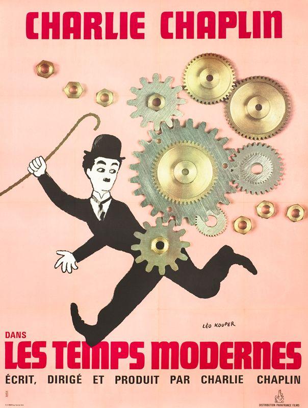 Les Temps Modernes Charlie Chaplin 1936 Posters De Filmes Cartaz Poster