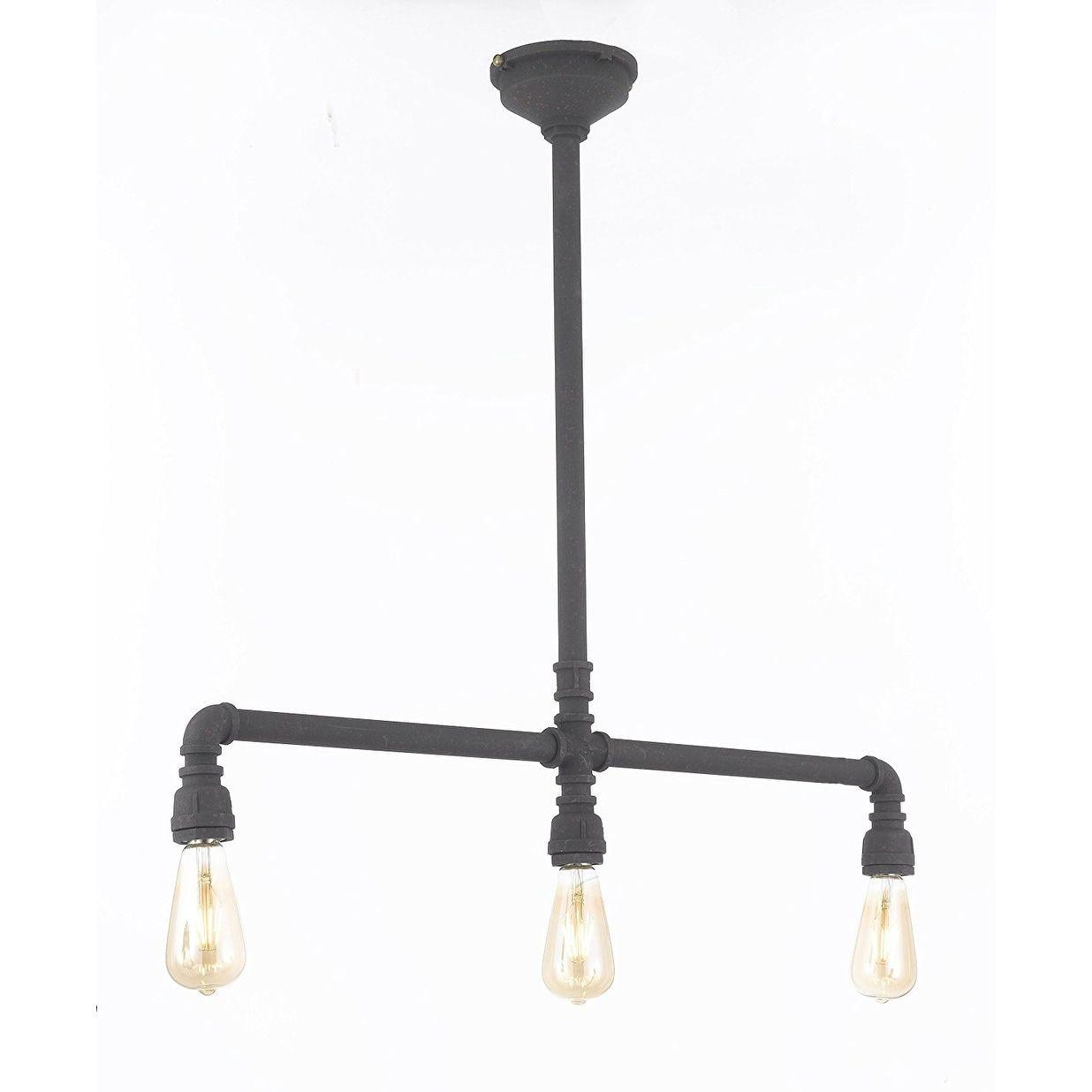 Gallery vintage barn metal pendant chandelier industrial rustic pipe