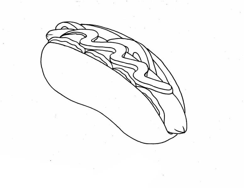 Tasty Hot Dog Coloring Page Coloring Sky in 2020 Dog
