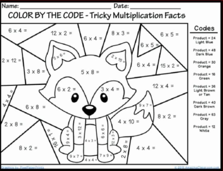Best Coloring First Grade Coloring Math Sheets In Color Number Math