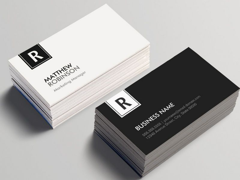 Chic and Clean Black White Monogrammed Business Card | Business ...