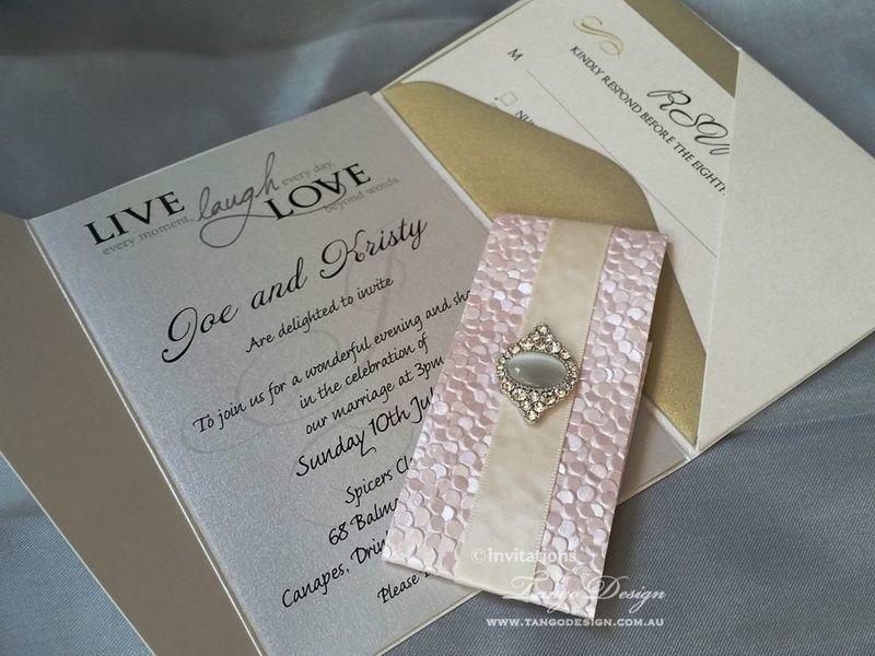 Designer wedding invitation online australia bling