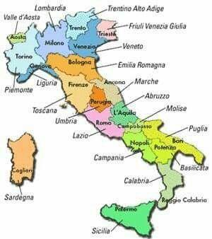 Cartina Fisica America Latina.Italia Division Politica Mapa De Italia Aprender Italiano Mapa De America Latina