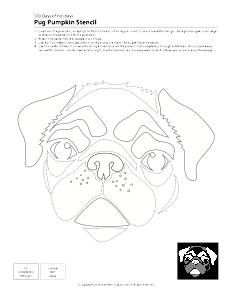 pug pumpkin carving patterns - Google Search | Dog stencil ...