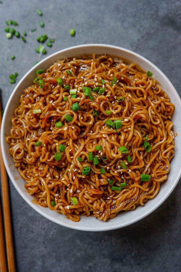 Easy Saucy Ramen Noodles (Vegan Recipe)
