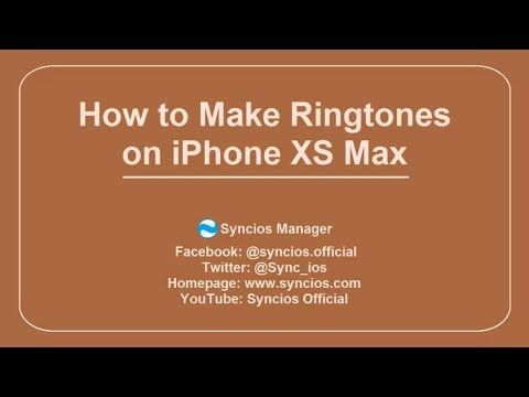 Use Syncios Ringtone Maker to customize personalize ringtone