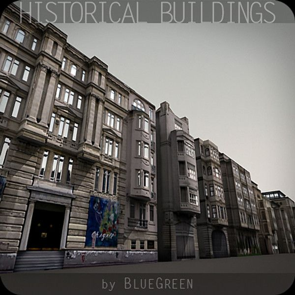 3d historical buildings