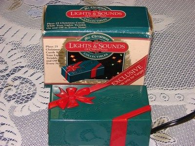 mr christmas the lights and sounds of christmas micro music box 25 songs ebay - Christmas Music Lights