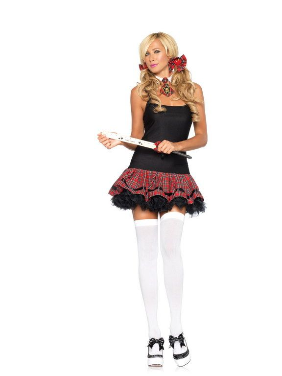 School Girl Costume Kit  Costume Accessories  Plaid Dress, Fancy Dress Accessories, Costume Accessories-2624