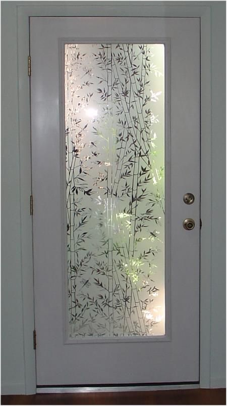 Decorative Bamboo Semi Privacy Static Cling Decorative