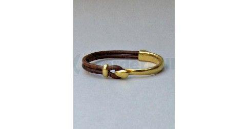 Unisex Βραχιολι χρυσό με δέρμα b0768be1eeb