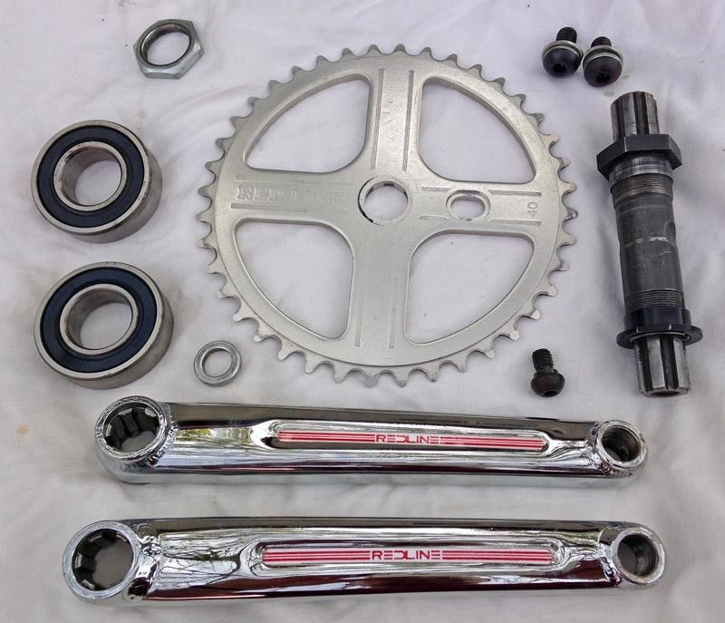 Old School BMX Style Redline Flight BMX Crank Bolt /& Washer Pair