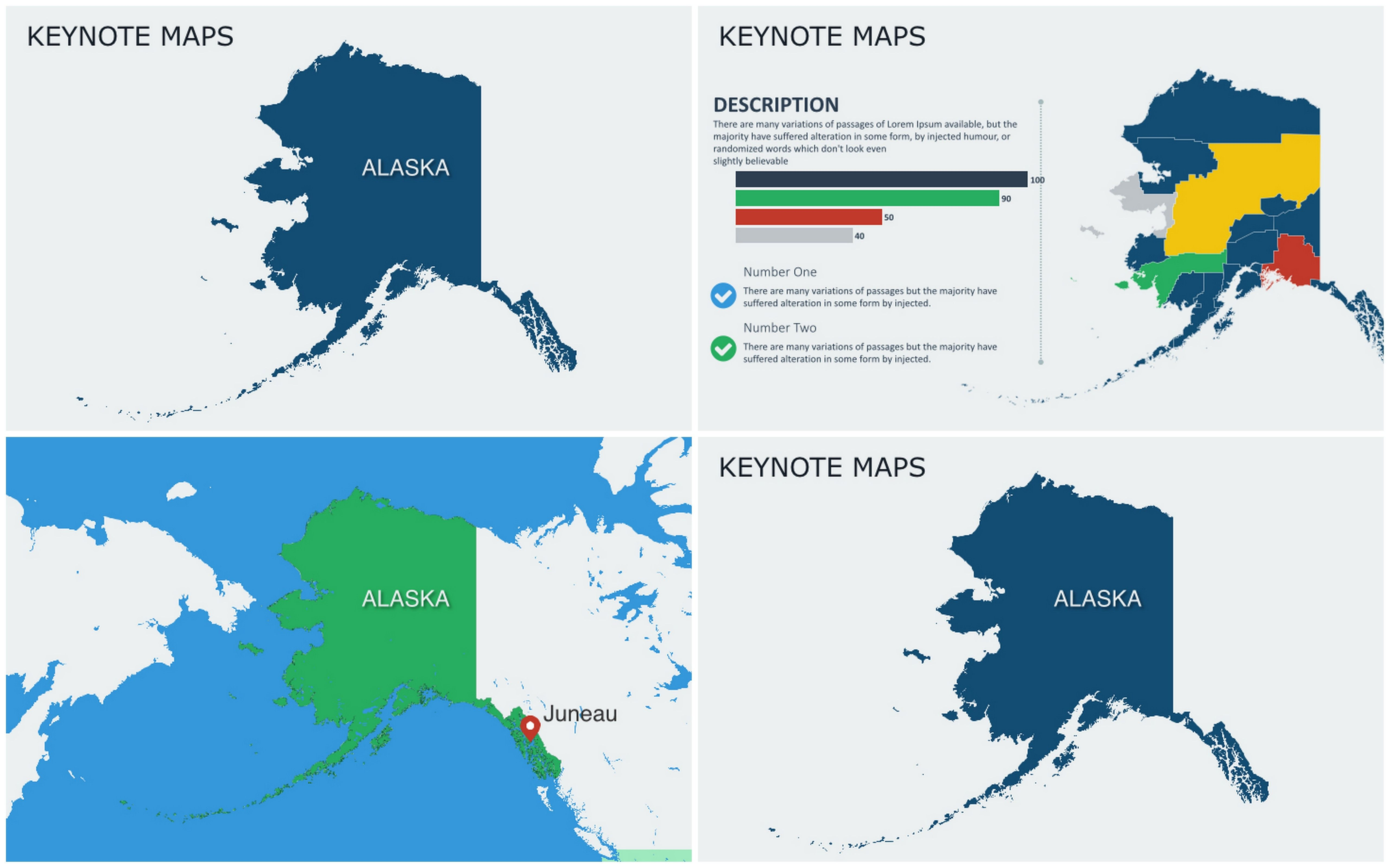Keynote map of alaska with counties maps pinterest keynote alaska with counties keynote maps keynote map of alaska with counties for presentation alaska the largest us state located in the northwest of the gumiabroncs Gallery