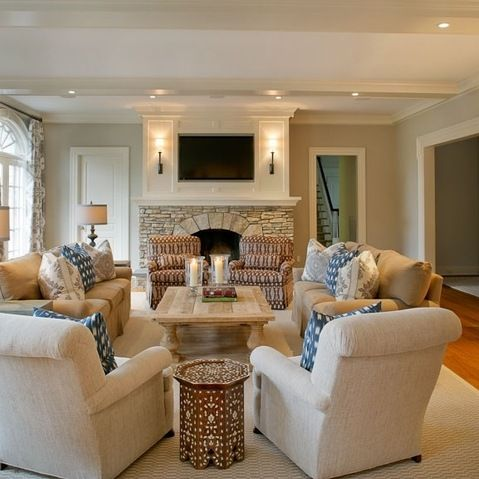 Love Furniture Layout Great Room Traditional Family Room