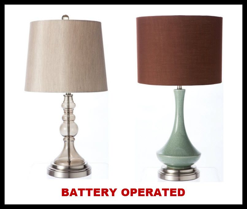 battery operated lamp battery operated cordless table lamps pictured left graphite battery. Black Bedroom Furniture Sets. Home Design Ideas