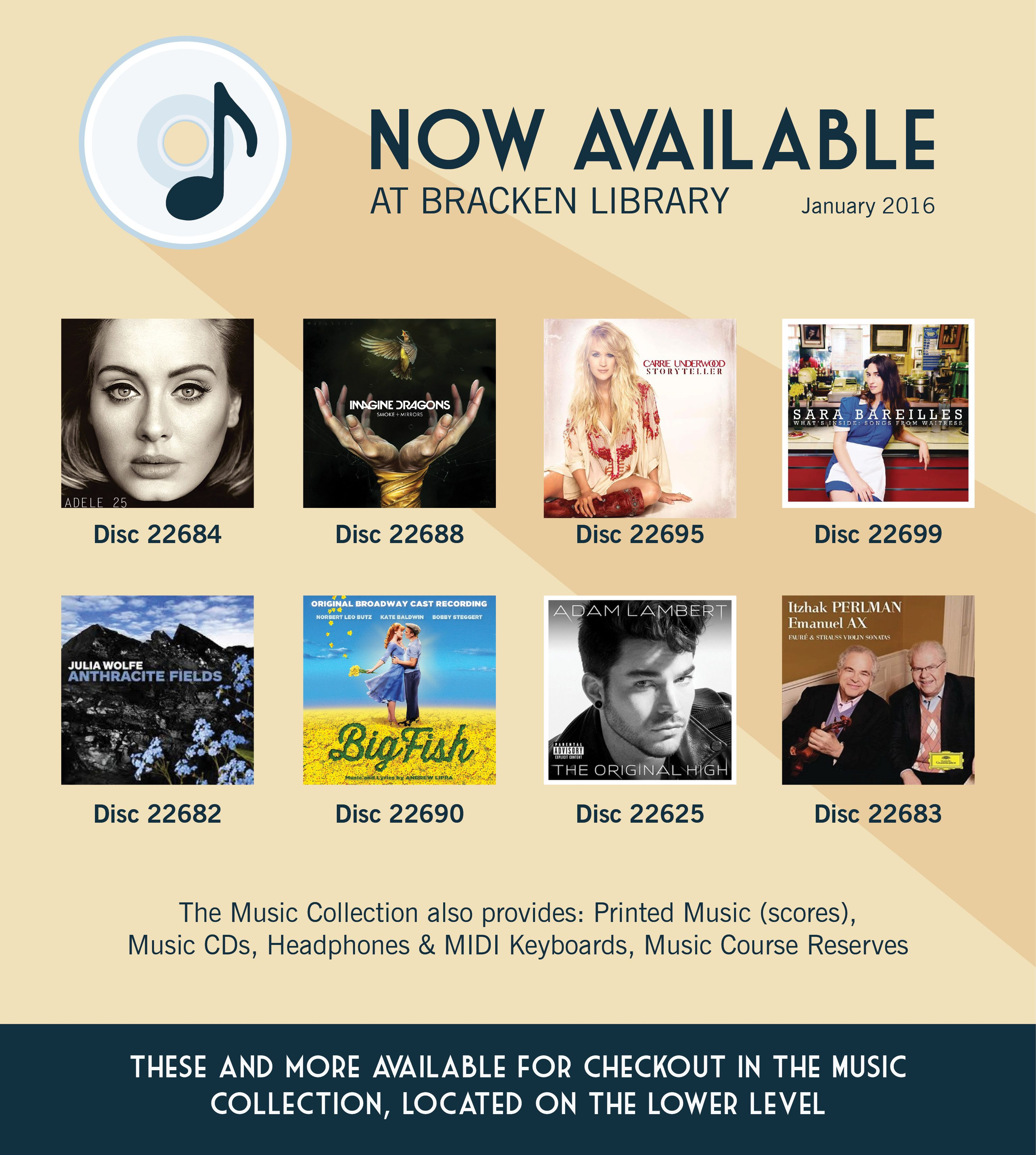 New Arrivals In Our Bracken Library Music Collection January 2016 Music Courses