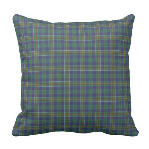 Green And Blue Hunter Clan Scottish Plaid Throw Pillow Decorative Simple Hunter Green Decorative Pillows