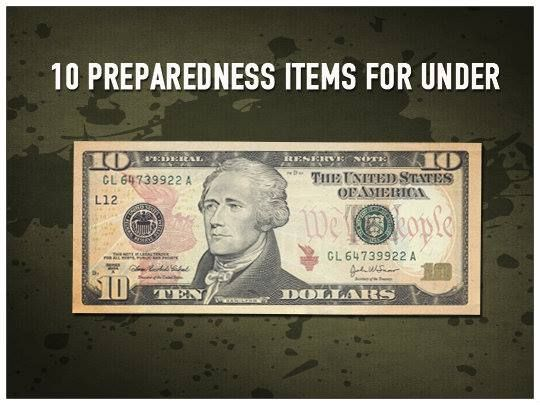 Ten Preparedness Items Under $10