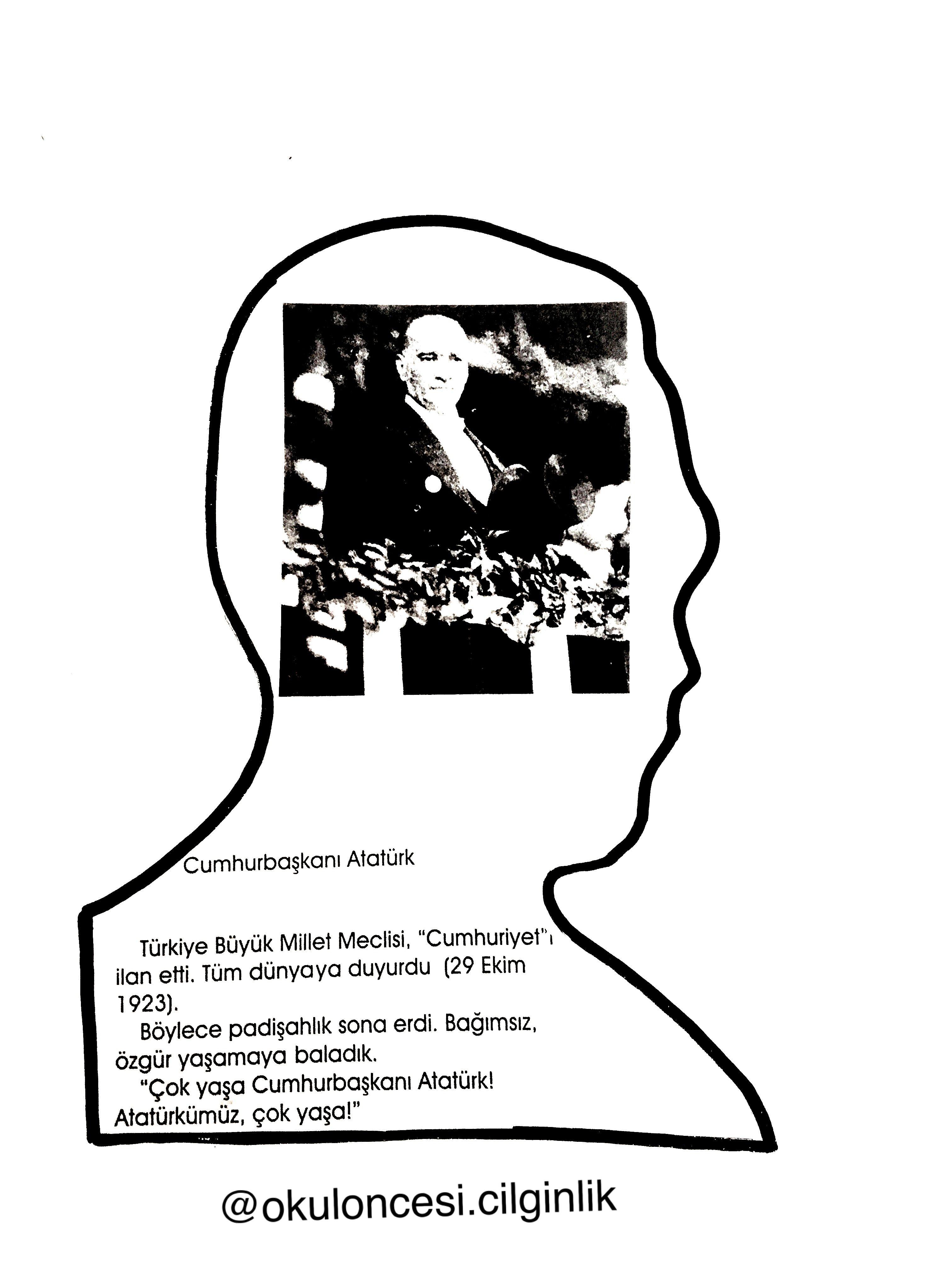 Ataturk Kitapcigi Kalip 6 Okuloncesi Cilginlik Basak Ogretmen Faaliyetler Egitim Okuma