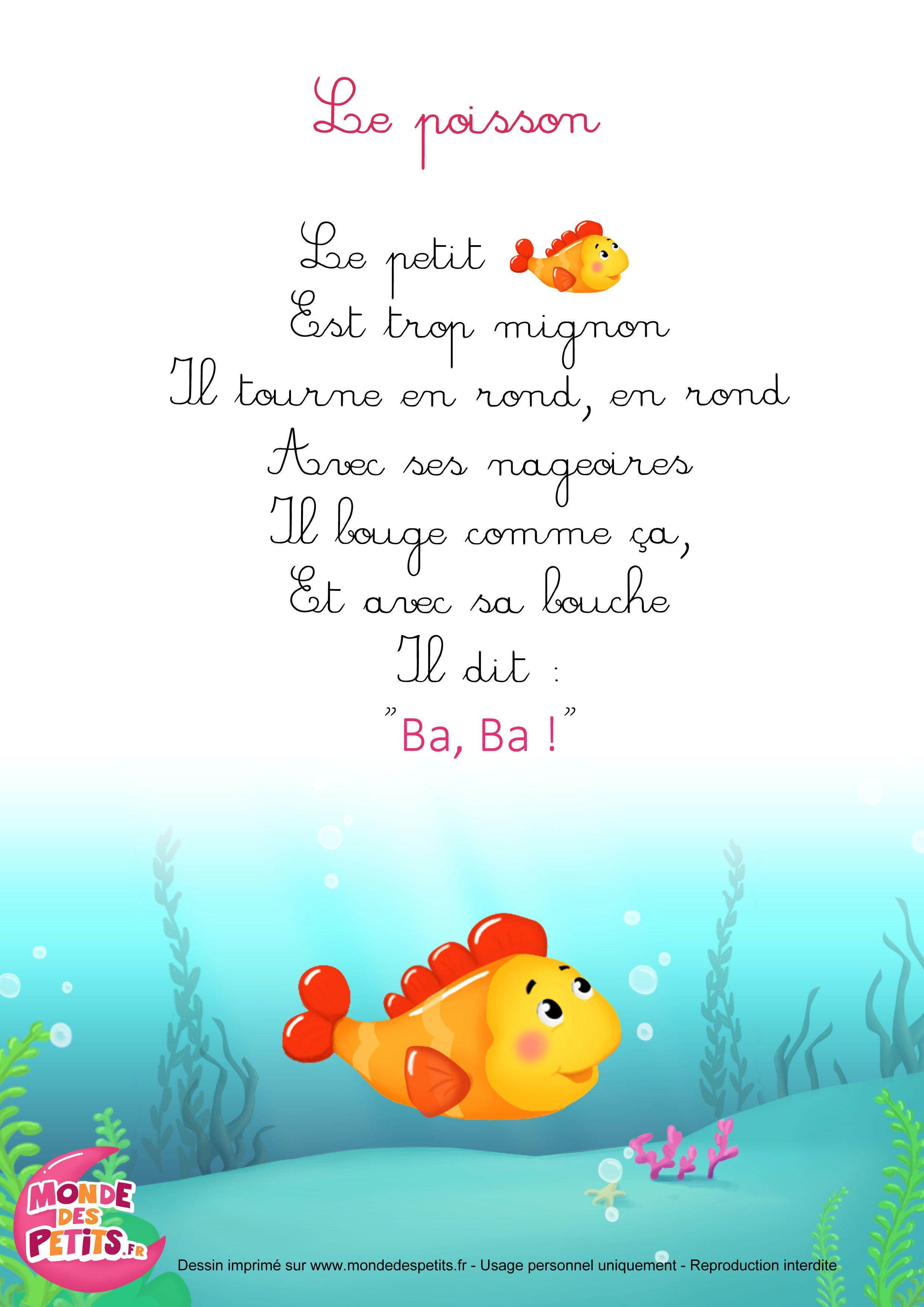 Les petits poissons - Comptines.TV