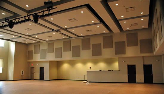 reduce noise in room absorb multipurpose gym stage area soundproofing solution to reduce noise