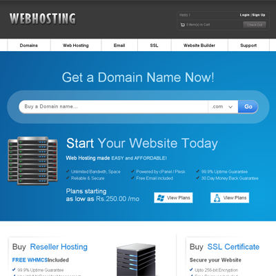 web hosting templates - Vertom