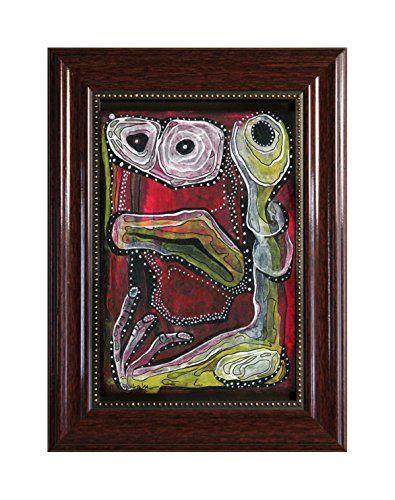 """EINGERAHMTER KUNSTDRUCK """"RED MONSTER"""" MARACHOWSKA ART MARACHOWSKA ART http://www.marachowska.com/"""
