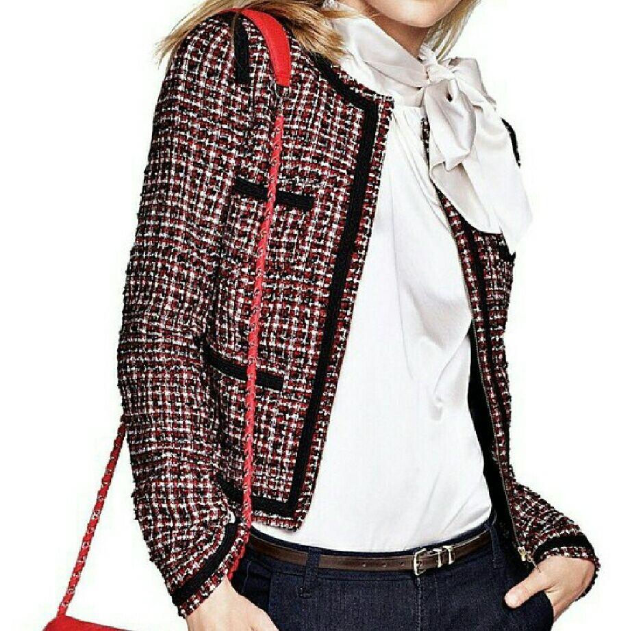 Mng By Mango Cropped Tweed Jacket   Products   Jackets, Tweed jacket ... df3be2e64cf6