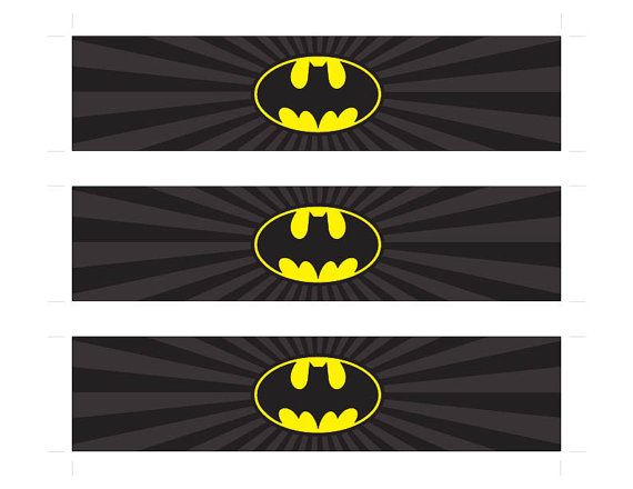 Batman and Robin ~ Water Bottle Labels ~ Birthday Party Baby Shower
