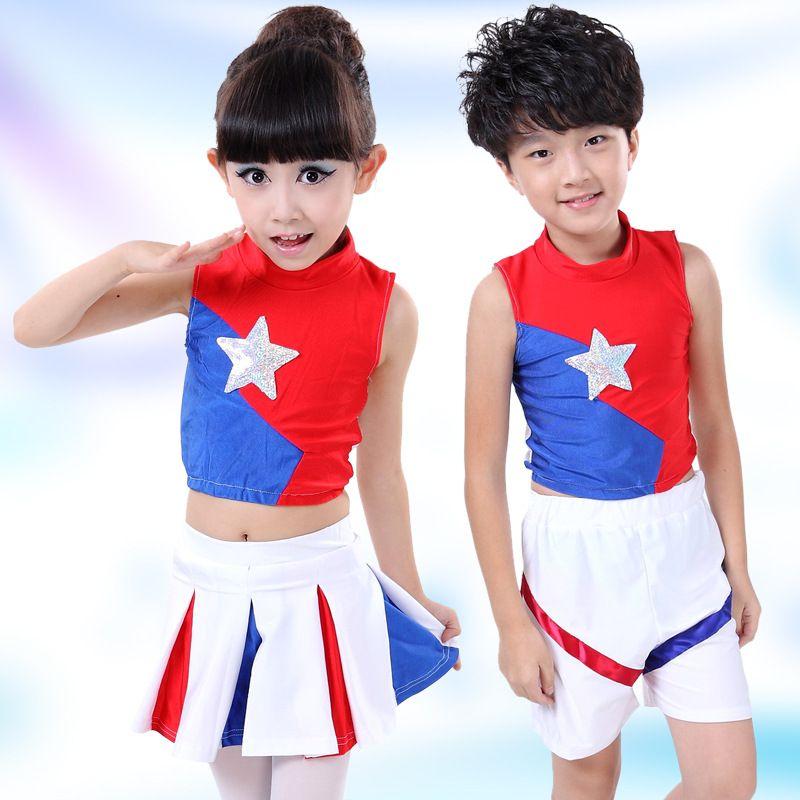 Girl Cheerleader Tutu Skirts Costume Cheer Dance Performance Skirt Dress Uniform