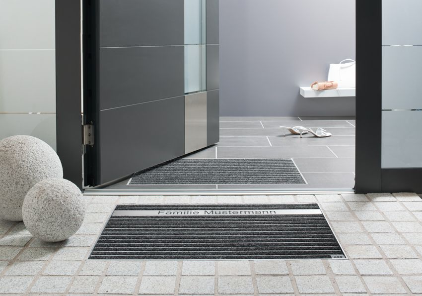 Schuhabstreifer System Bodenwanne Und Fussmatte Zum Einbau Eingang Hauseingang Gestalten Eingangsbereich